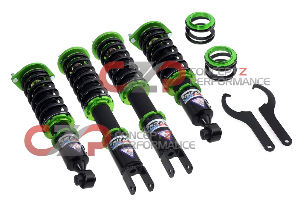 Powertrix SS Coilovers include front + rear helper springs out of the box.