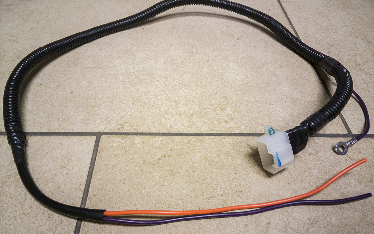 custom fuel pump power supply harness