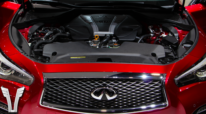 As it sits in the engine bay of the 2016 Q50.
