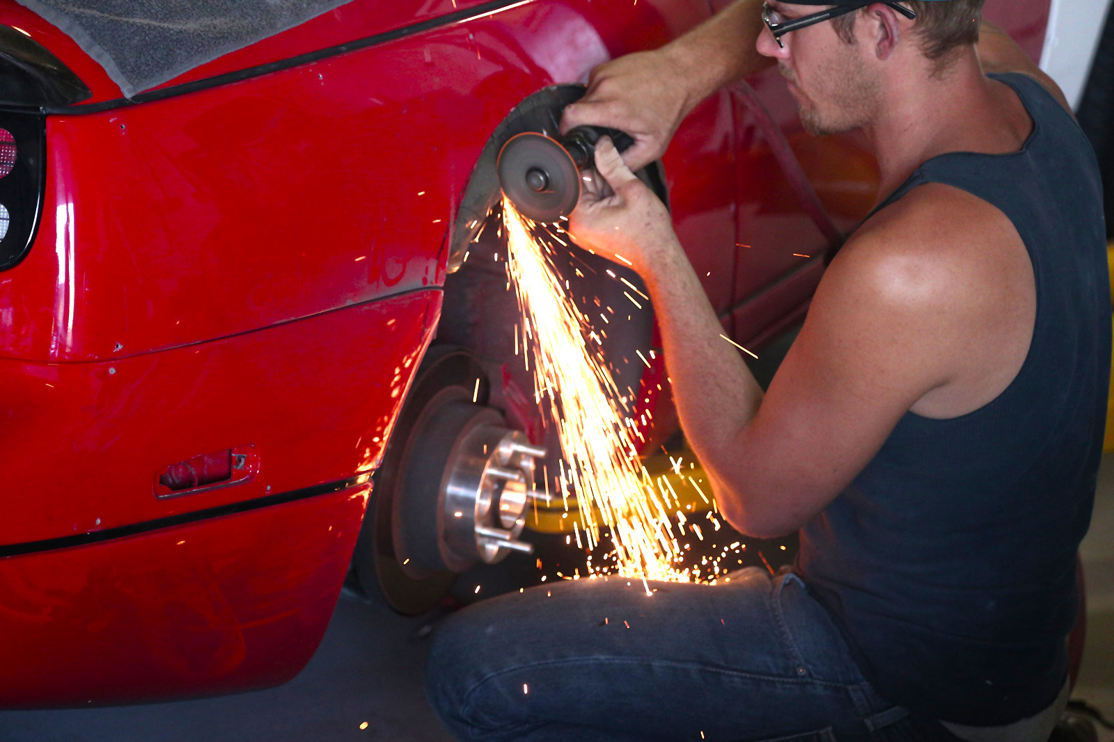 Turning that fender into flower petals