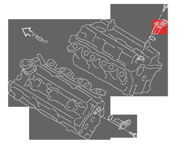 Nissan / Infiniti Nissan OEM Camshaft Position Sensor, RH (Passenger)  Intake, LH (Driver) Exhaust, VQ35DE - Nissan 350Z / Infiniti G35 M35 FX35