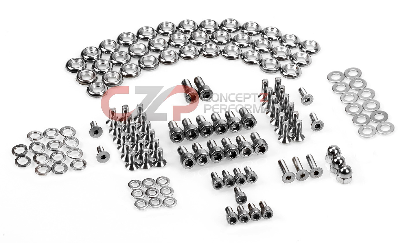 czp stainless steel engine bay bolt kit nissan 300zx 90