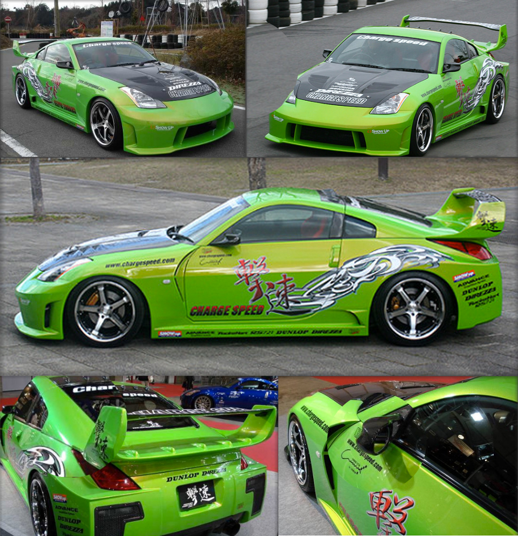 Chargespeed ChargeSpeed CS722FKW Super GT Wide Body Kit 8pc. Nissan 350Z Z33 - Concept Z Performance