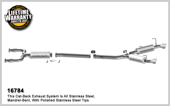 Magnaflow 16784 Stainless Cat-Back Exhausts System 03-08 Nissan 350Z