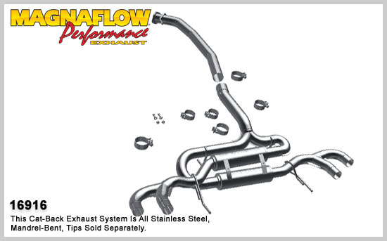 Magnaflow 16916 Stainless Performance Exhaust 09-12 Nissan GT-R