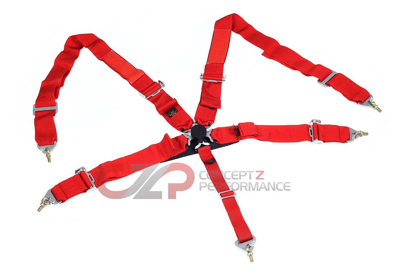 "Status Racing 3"" 5 Point Cam Lock Harness Kit Red - FIA Approved"