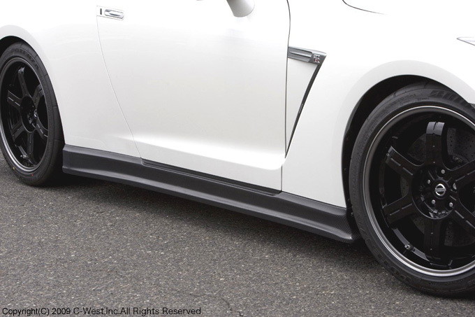 C-West Side Skirts, CFRP Carbon Fiber - Nissan GT-R R35