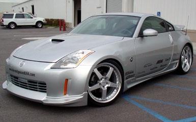 Kaminari Lower Lip Body Kit, Polyurethane - Nissan 350Z 03-05 Z33