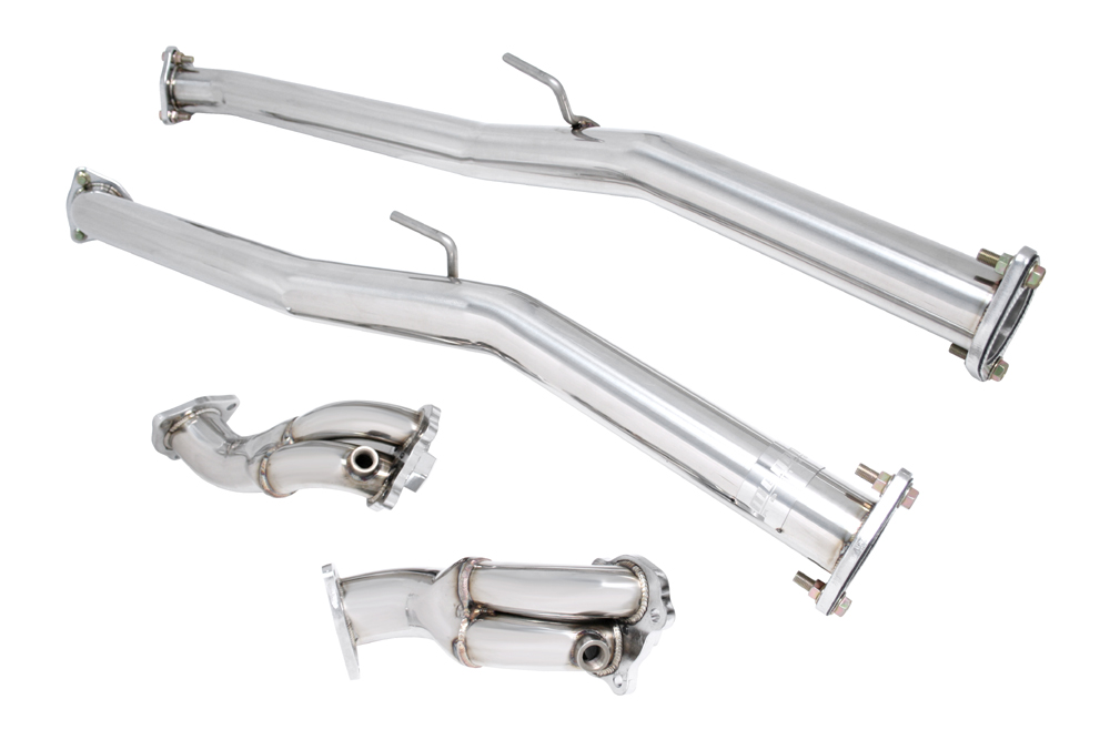 Megan Racing MR-SSDP-N300-V2 Version 2 V2 Test Pipes and 4-Bolt Downpipes 90-96 300ZX TT Z32