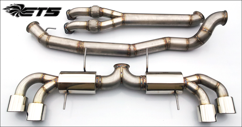 "ETS 4"" Stainless Steel Exhaust System Nissan GT-R"