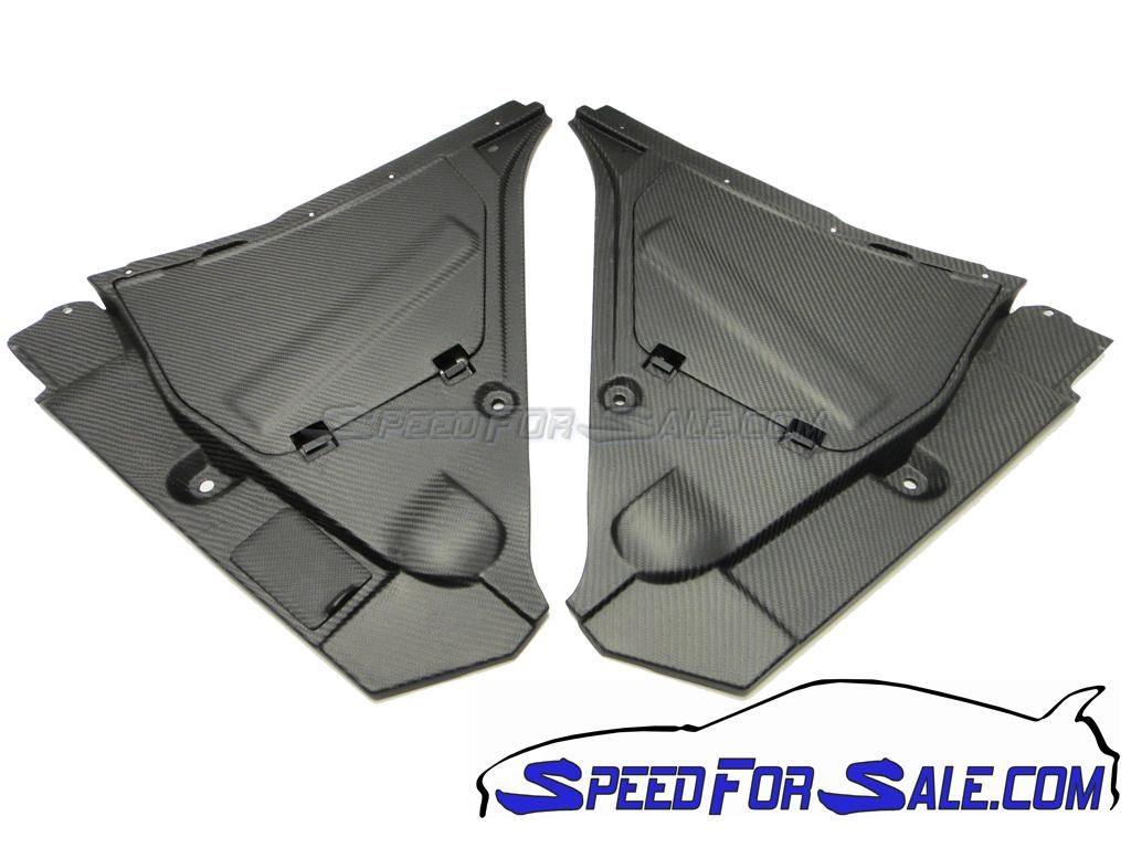 SpeedForSale Matte Carbon Brake & Battery Panel Covers - Nissan GT-R R35