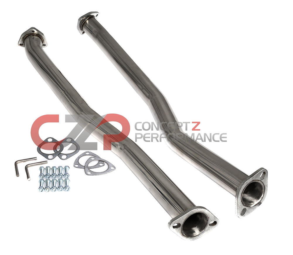 "Z1 2.5"" Stainless Steel Test Pipes, Twin Turbo TT - Nissan 300ZX 90-96 Z32"