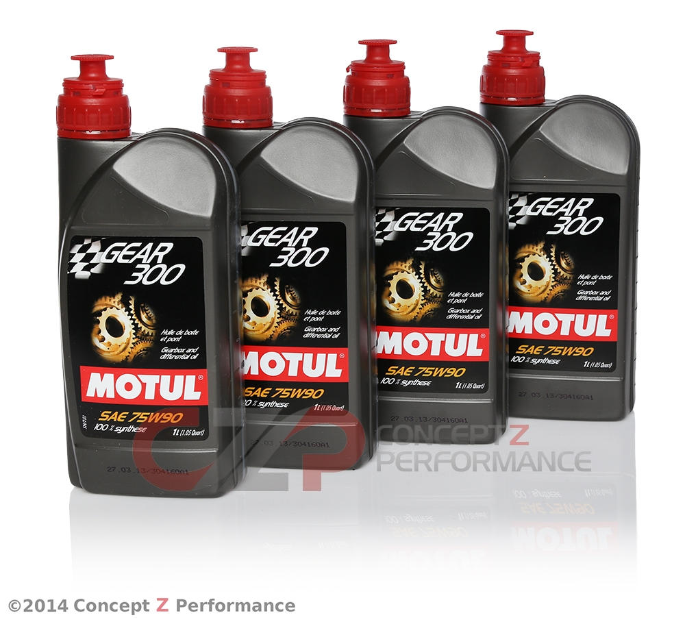 Motul 1L Gear Oil 300 75W90, Transmission Fluid, Synthetic Ester - 4 Pack  105777-4PK mot105777 - Concept Z Performance