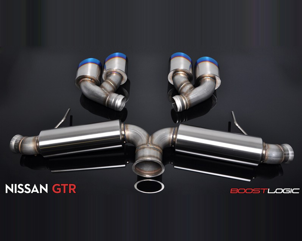 "Boost Logic 2010907 4"" Complete Catback Exhaust with Quad Tips Nissan GT-R 09+"
