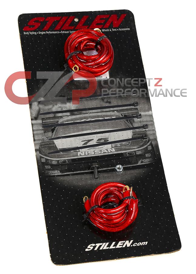 Stillen 606358R Grounding Kit, Red - Infiniti G35 07-08, 09+ G37 ...