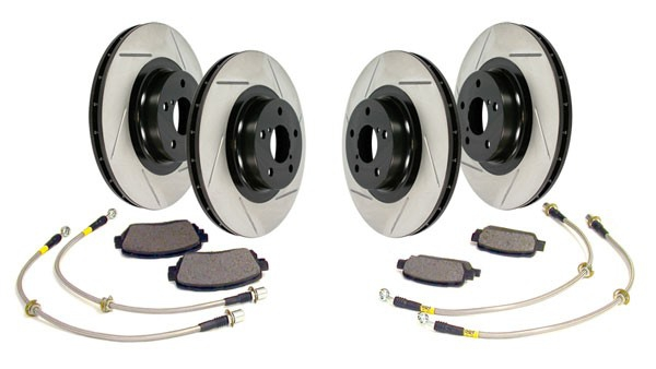 Stoptech Stage 2 Sport Axle Pack Brake Package Kit w/ Brembo Calipers - Nissan 350Z / Infiniti G35
