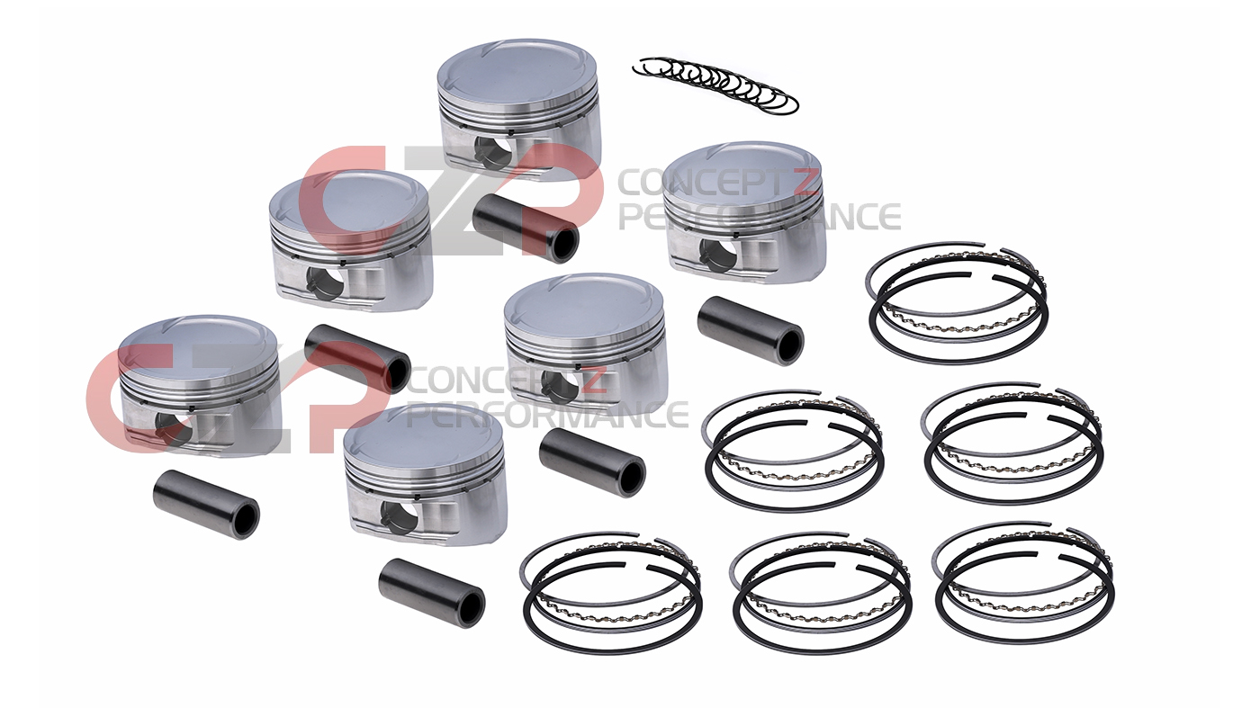 CP Pistons SC7308 Forged Aluminum Piston Kit Nissan RB25DET 86.5mm 8.5:1 R32 R33 R34
