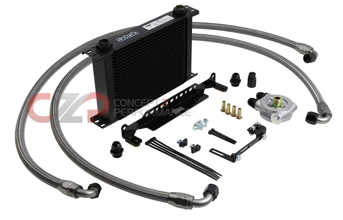 Oil Cooler Kit : Z motorsports engine oil cooler kit nissan