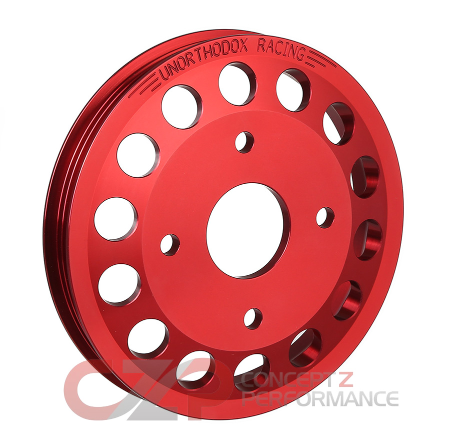 Unorthodox Racing Water Pump Pulley, Red - Nissan 300ZX 90-96 NA Z32