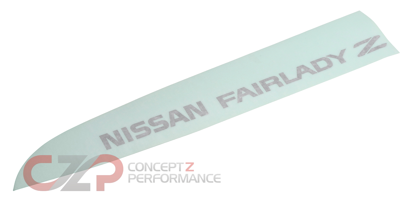 "Nissan JDM 93094-30P01 Rear ""Nissan Fairlady Z"" Decal, Bronze Tint - Nissan 300ZX 90-96 Non-Turbo / 94-96 Twin Turbo Z32 - LIMITED SUPPLY!!!"