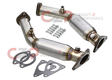 Berk Technology Resonated Test Pipes w/ Cel Fix, VQ35HR VQ37VHR - Nissan 350Z, 370Z / Infiniti G35, G37, Q50, Q60