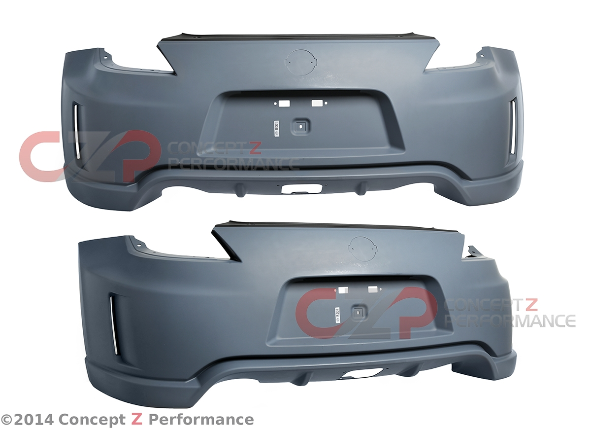 Nissan OEM HEM23-1A40H Nismo Rear Bumper Fascia with Rear Fog Light Option 2014 Style, Fits Nissan 370Z 09+ Z34