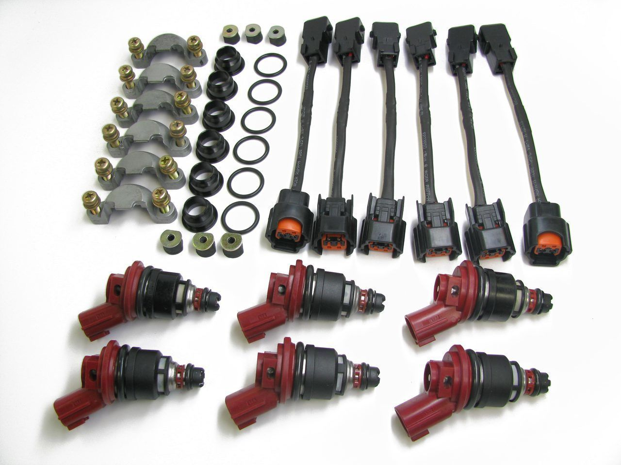 AUS Injection Injectors Set Late Style w/ Optional Early to Late Adapter Kit, 550cc - Nissan 300ZX Z32