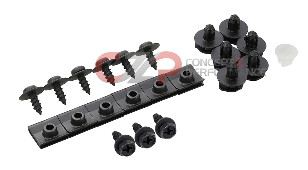 Nissan OEM Upper Front Fender Liner Splash Guard Hardware Kit, RH - Nissan 300ZXZ Z32