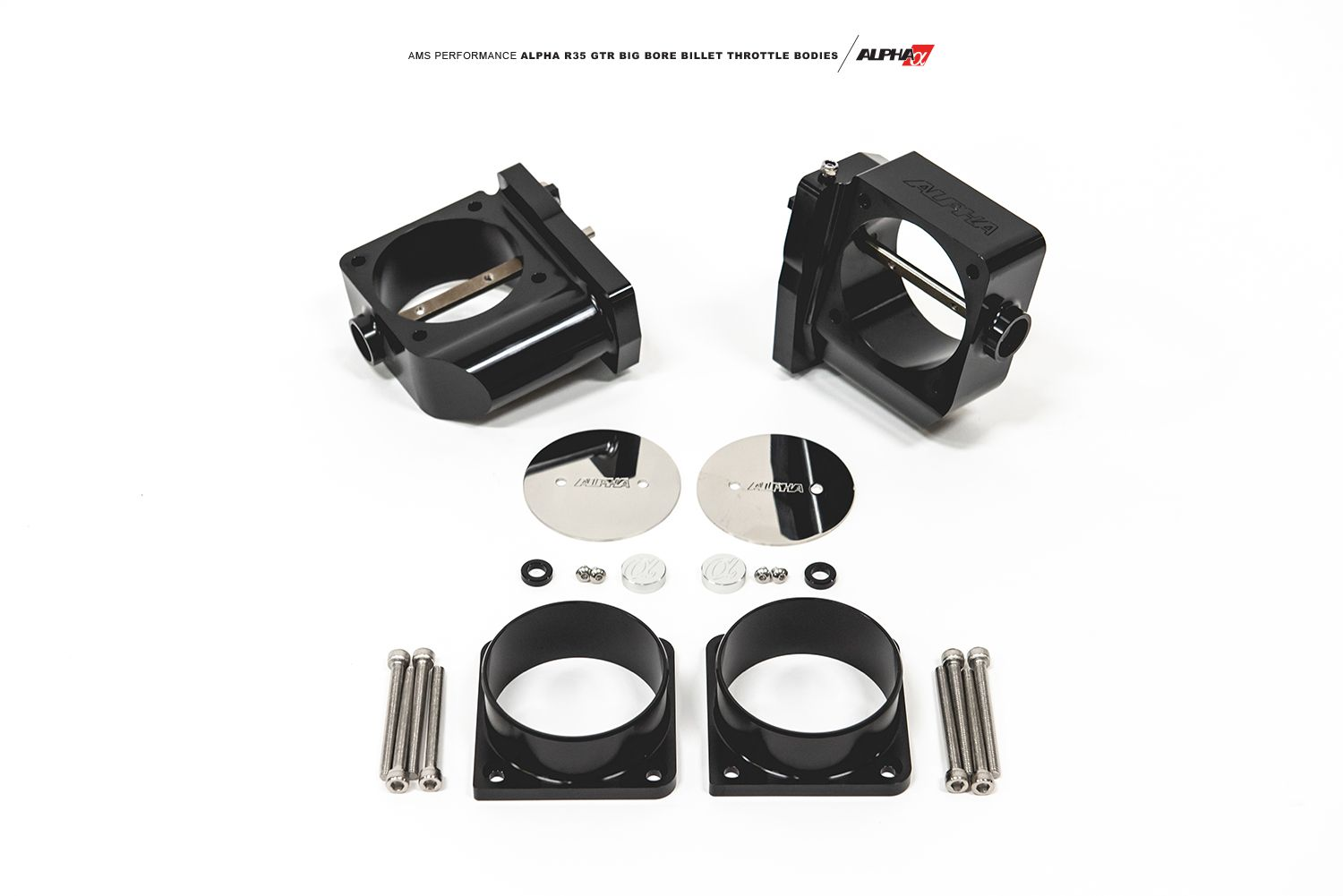 Alpha Performance Big Bore Billet Throttle Bodies - Nissan GT-R R35