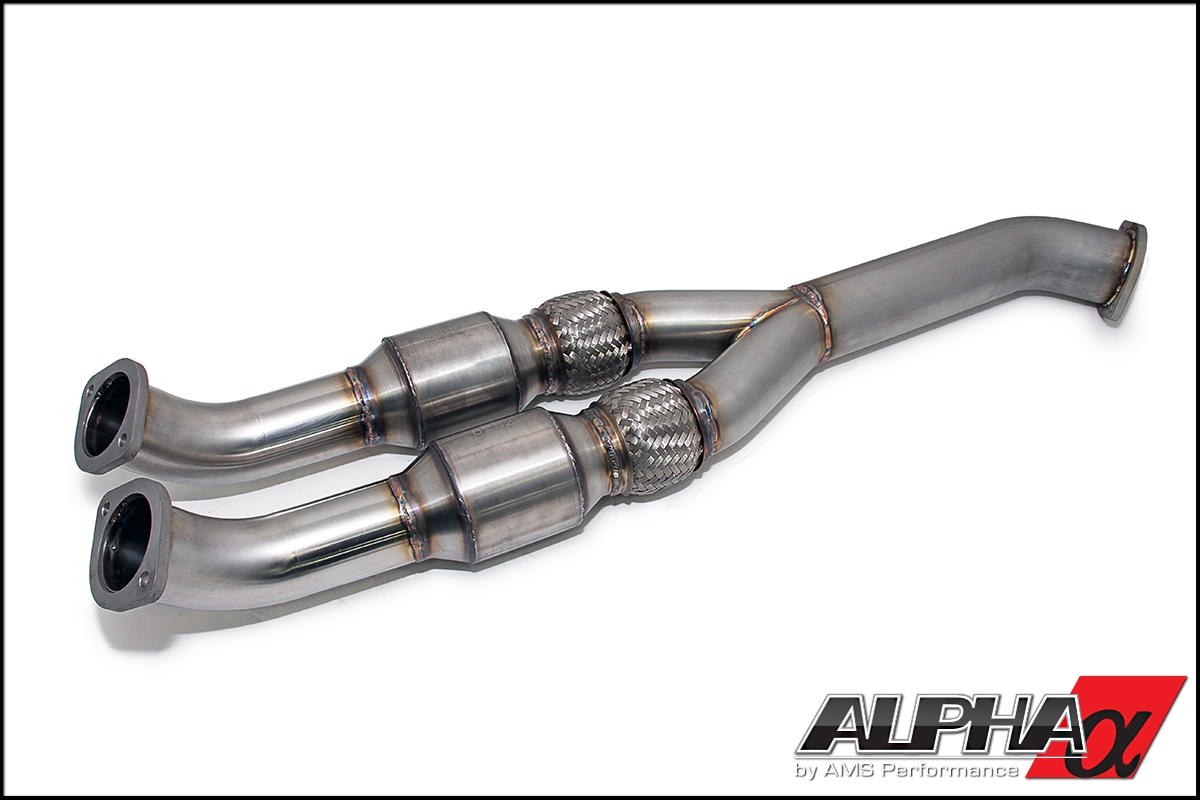 AMS Alpha Catted Midpipe 90mm - Nissan GT-R R35