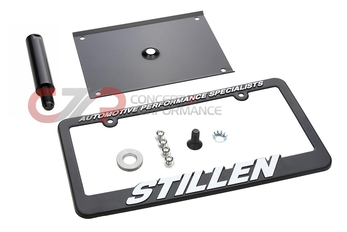 stillen 105360 no drill license plate relocator 16mm thread base infiniti g35 03 04 coupe v35