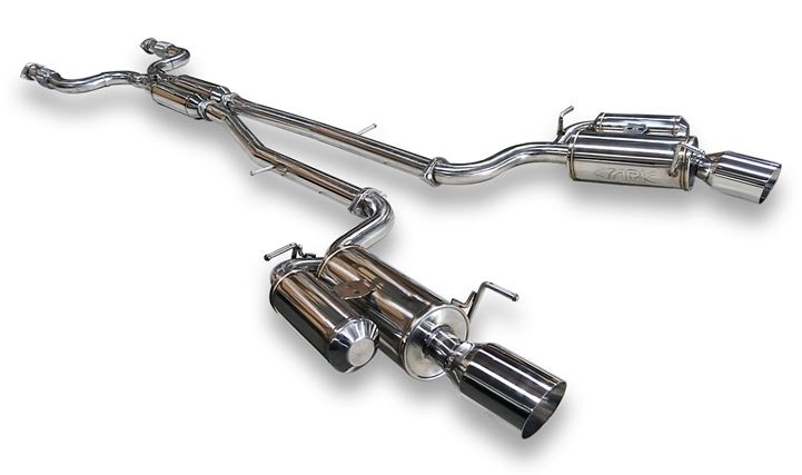 ARK Performance SM1103-0107G GRiP True Dual Catback Exhaust System Polished Tip - Infiniti 07-08 G35, 09-14 G37 & 2015 Q40 Sedan RWD & AWD V36