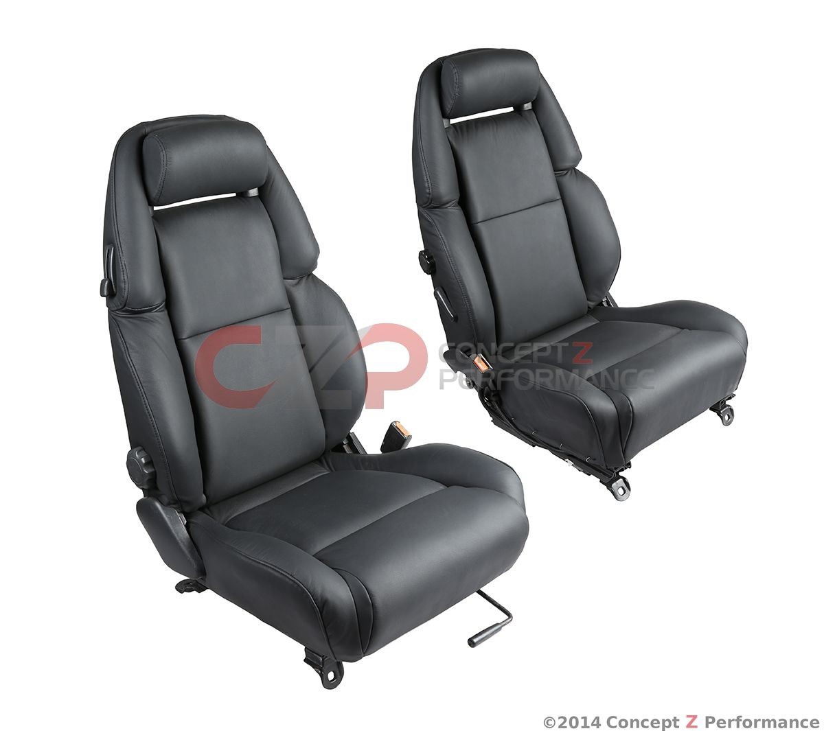 Nissan OEM Reupholstered Leather Seats, Pair L+R - Nissan 300ZX Z32