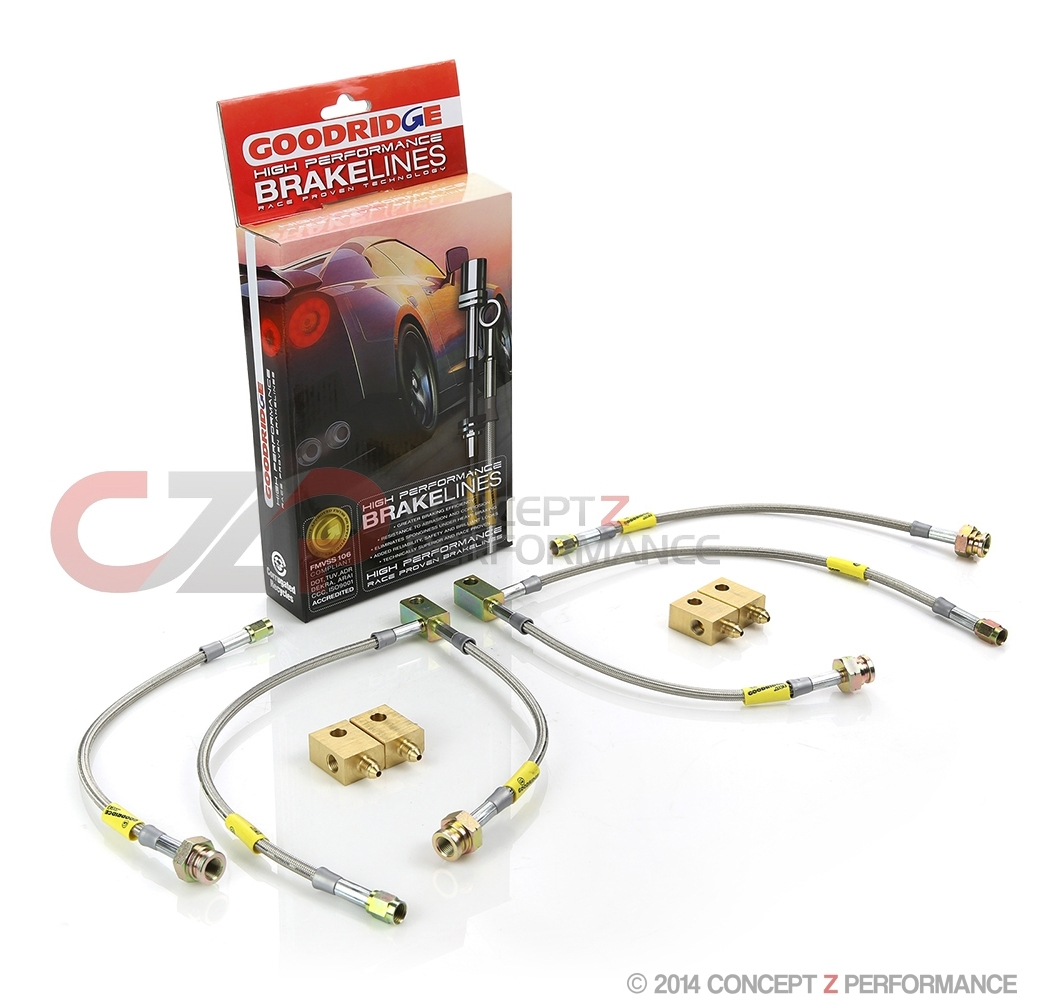 Goodridge G-Stop Stainless Steel Braided Brake Lines 09+ Nissan GTR R35