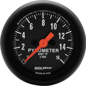 AutoMeter 2654 Z-Series Electronic Full Sweep Pyrometer Gauge 0-1600 Deg F - 52mm