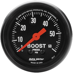 AutoMeter 2617 Mechanical Boost Gauge 0-60 PSI 52mm - Z-Series