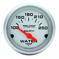 Autometer 4337 Ultra-Lite Short  Sweep Electric Water Temperature Gauge 100-250 Deg F - 52mm