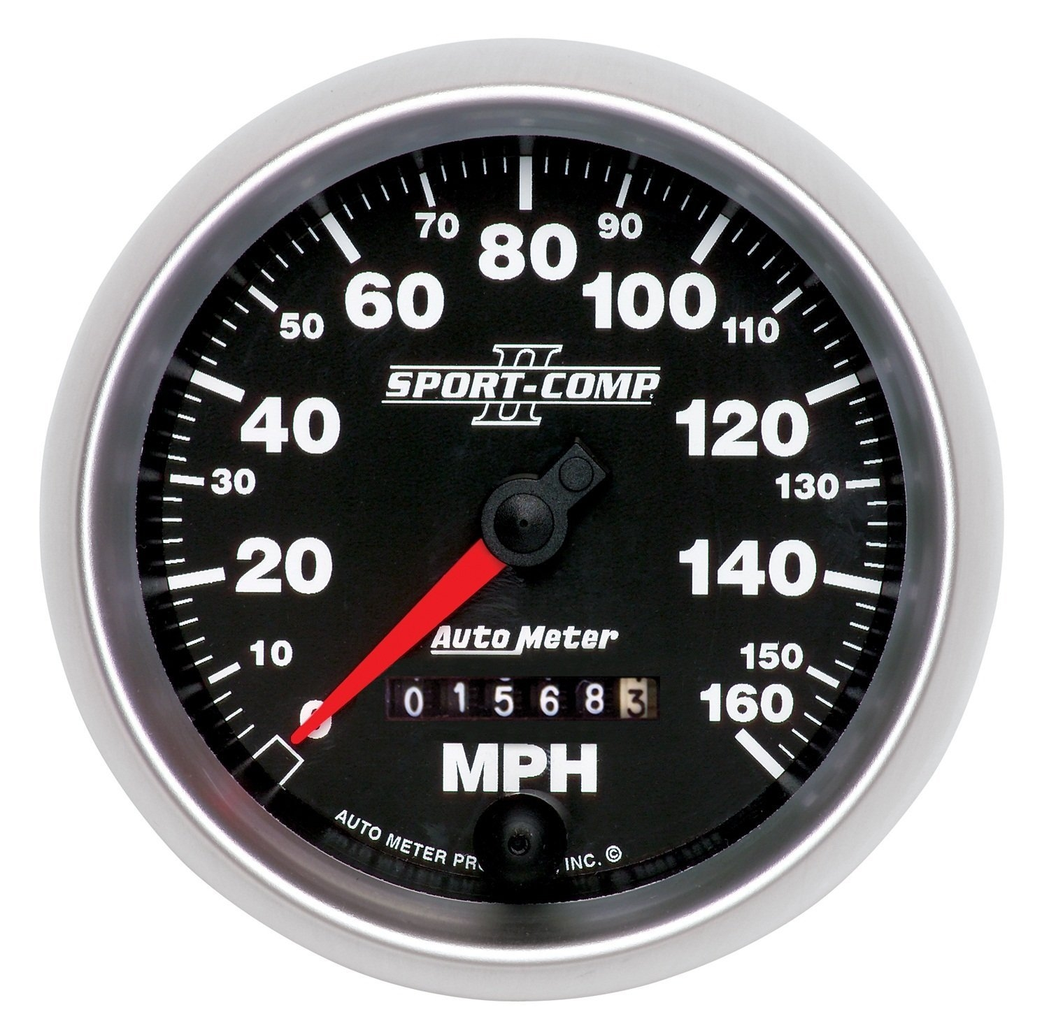 AutoMeter 3693 Sport-Comp II Mechanical Speedometer 160 MPH - 3 - 3/8""