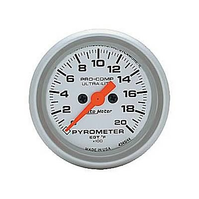 AutoMeter 4345 Ultra-Lite Electronic EGT Gauge 0-2000 Deg F - 52mm