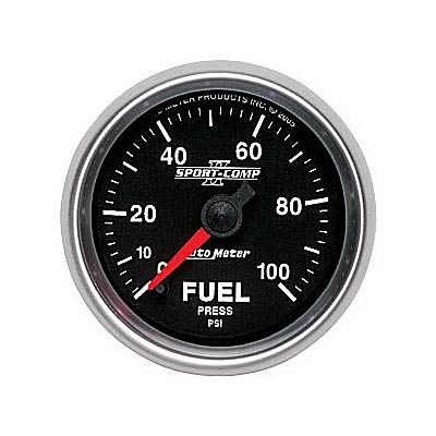 AutoMeter 3663 Sport-Comp II Full Sweep Electronic Fuel Pressure Gauge 100 PSI - 52mm
