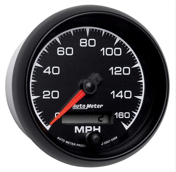 AutoMeter 5988 ES In-Dash Electronic Programmable Speedometer 160 MPH - 85.7mm