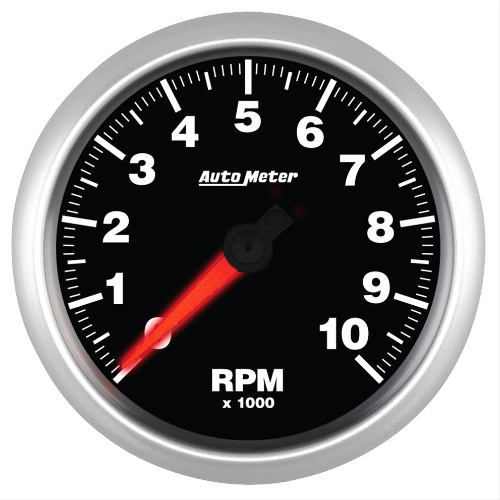 AutoMeter 5697 ES Street Progressive Tachometer Shift Light - 10,000 RPM 85.7mm