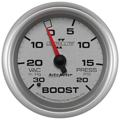 Auto Meter Sport-Comp II 52mm 30 PSI Mechanical Boost Vacumm Gauge