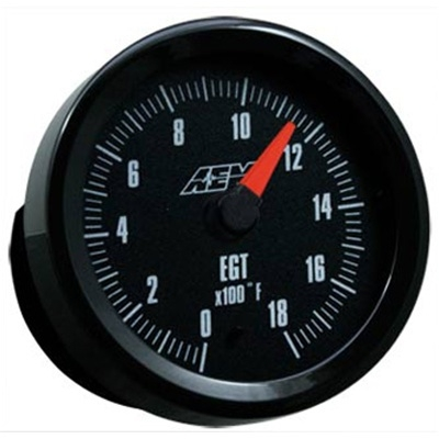 AEM 30-5131 Exhaust Gas Temperature Gauge 0-1800 Deg F - 52mm SAE