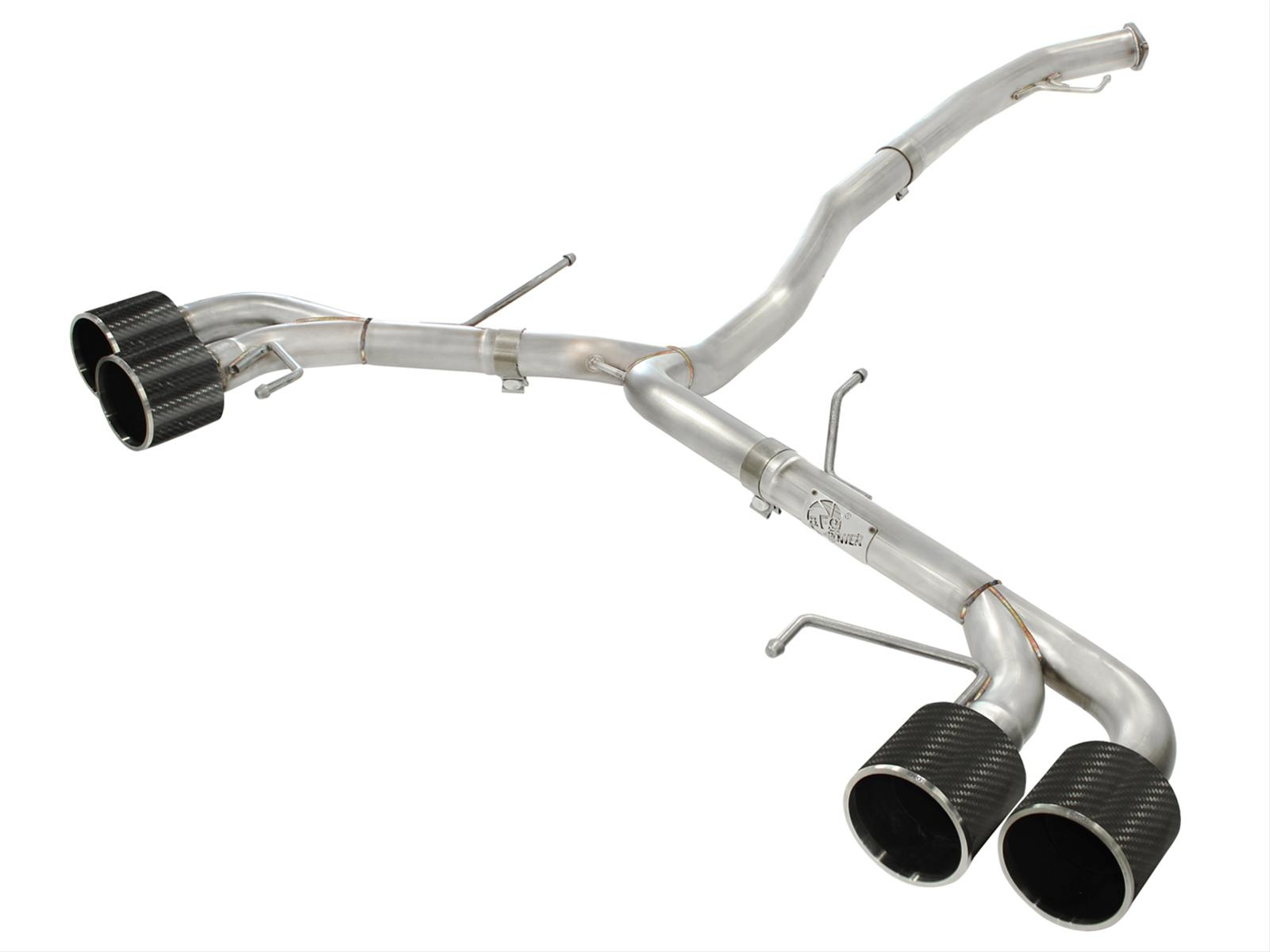 "aFe Takeda 49-36108-C Stainless Steel Cat Back Exhaust System 3"" w/ Carbon Fiber Tips - Nissan GT-R R35"