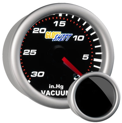 GlowShift GS-T03 Tinted Vacuum Gauge - 52mm