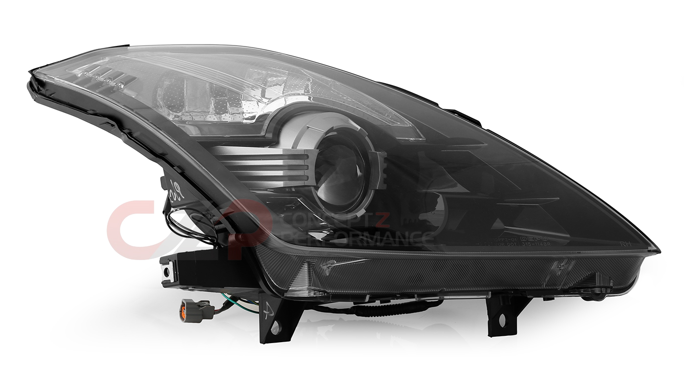 Depo Blacked Out Bi-Xenon Projector Headlight Set - Nissan 350Z Z33 - IN STOCK, LIMITED QUANTITIES!!!