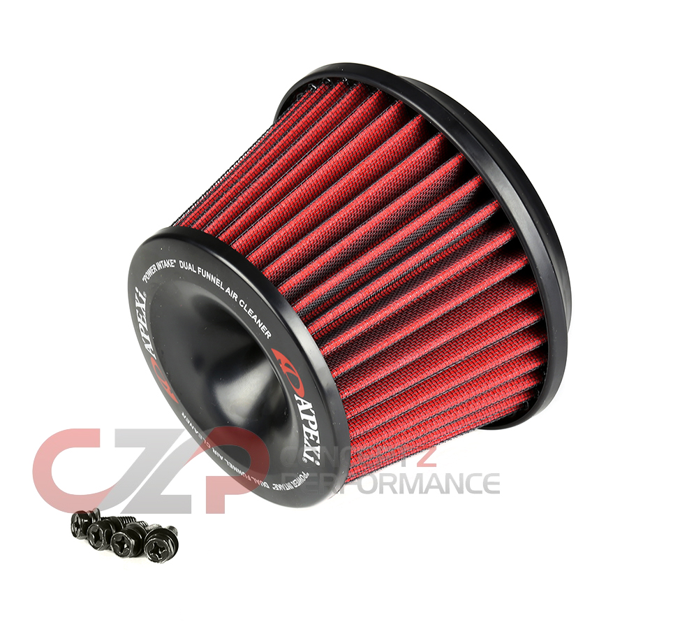 Apexi Universal Replacement Intake Filter, OD-160mm, ID-75mm, Also Used for Selin Dual Intake Translator - Nissan 300ZX Z32