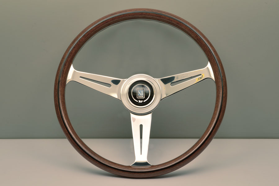 Nardi 5061.36.3000 Classic Wood Steering Wheel Polished Spokes w/ Wooden Grip - 360mm