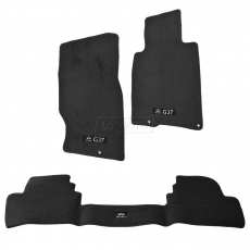 Infiniti OEM G4900-1NM3E Carpeted Floor Mat Set, Automatic Transmission AT, Black - Infiniti G35 09-13 Sedan V36